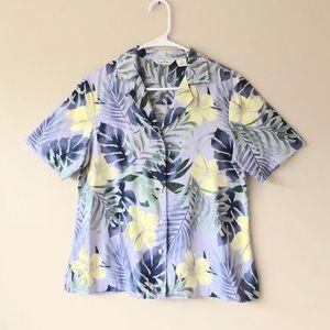 Tommy Bahama Silk Tropical Short Sleeve Shirt Sz M